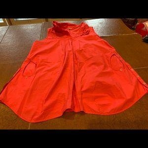 Orange/Red tank blouse